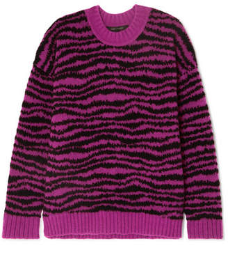 Marc Jacobs Intarsia Wool-blend Sweater - Pink
