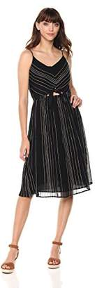 Michael Stars Women's Beach Stripe Peek-a-Boo Midi Dress
