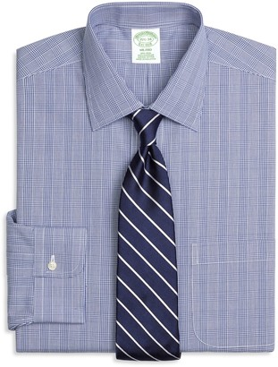Brooks Brothers Milano Slim-Fit Dress Shirt, Non-Iron Glen Plaid