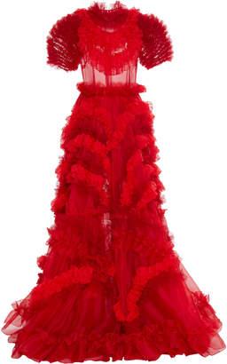 Dolce & Gabbana Ruffled Silk Chiffon Gown