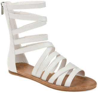 Journee Collection Womens Donna Criss Cross Strap Gladiator Sandals