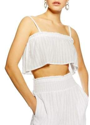 Topshop Raw Edge Cropped Camisole Top