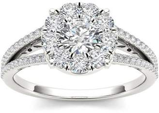 Imperial Diamond Imperial 1 Carat T.W. Diamond Cluster 10kt White Gold Engagement Ring