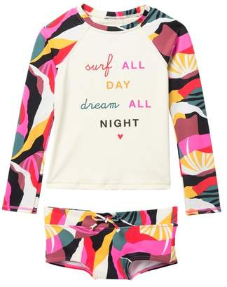 861a2af20aa95 Billabong Dream Time Long Sleeve Rashguard 2-Piece Set (Big Girls)
