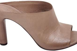 Roberto Del Carlo Leather Heeled Mules