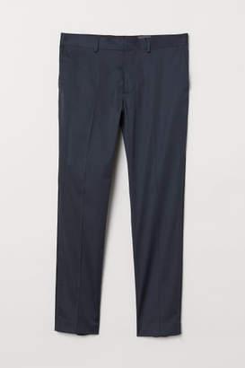 H&M Tuxedo Pants Skinny fit - Blue