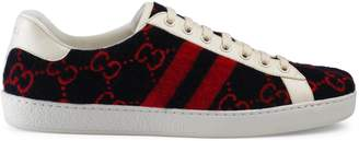 Gucci Men's Ace GG wool sneaker
