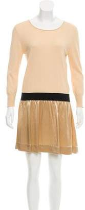 Band Of Outsiders Silk-Accented Mini Dress