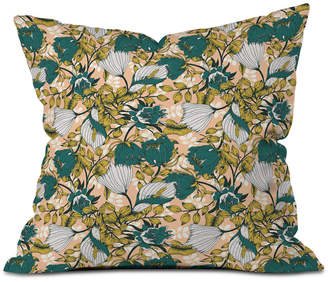 Deny Designs Marta Barragan Camarasa Tropical Autumnal Bloom Throw Pillow
