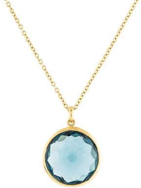 Ippolita 18K Blue Topaz Lollipop Pendant Necklace