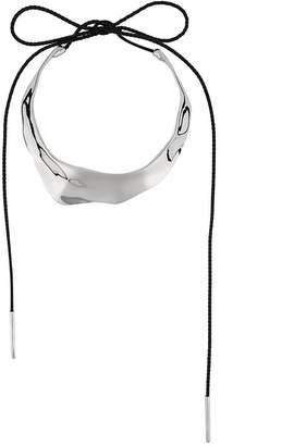 Alexander McQueen asymmetric tie fastening choker