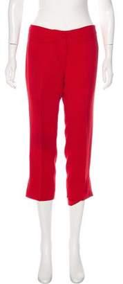 Miu Miu Mid-Rise Cropped Pants