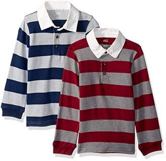 Carter's Simple Joys by Boys' Toddler 2-Pack Long-Sleeve Rugby Striped Shirts