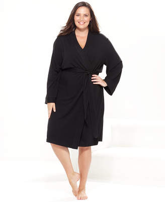 Charter Club Plus Size French Terry Kimono Robe