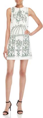Dolce & Gabbana Birdcage Print Jacquard Shift Dress
