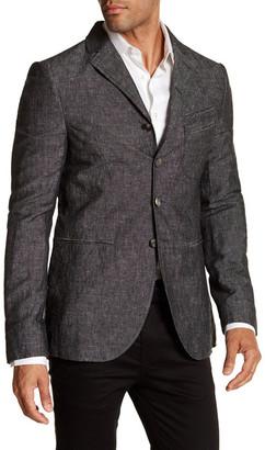 John Varvatos Collection Garment Washed Slim Fit Soft Jacket $1,098 thestylecure.com