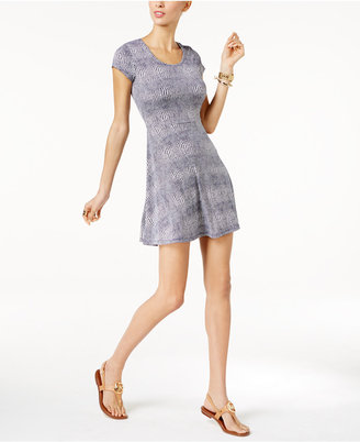 MICHAEL Michael Kors Printed Fit & Flare Dress $98 thestylecure.com