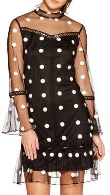 Quiz Mesh Polka Dot Bell Dress