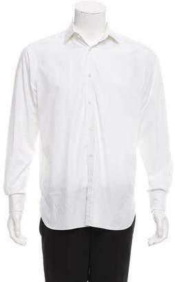 Ralph Lauren Purple Label Spread Collar Button-Up Shirt