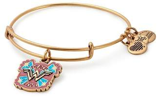 Alex and Ani Peace & Love Wonder Woman Wire Charm Bracelet