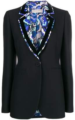 Emilio Pucci contrast-lapel fitted blazer