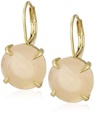 Vince Camuto Round Leverback Peach Drop Earrings