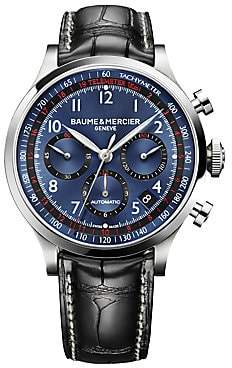 Baume & Mercier Baume& Mercier Baume& Mercier Men's Capeland 10065 Stainless Steel& Alligator Strap Chronograph Watch