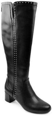 Adrienne Vittadini Larosa Knee-High Leather Boots