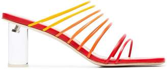REJINA PYO red, orange and yellow zoe ombre salsa 80 leather strappy sandals
