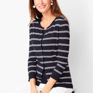 Talbots Charming Cardigan - Double Stripe