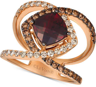 LeVian Le Vian Pomegrate Garnet (2-3/4 ct. t.w.) & Diamond (1 ct. t.w.) Ring in 14k Rose Gold