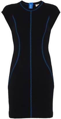Emilio Pucci Embroidered Stretch-Knit Mini Dress