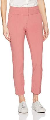 My Michelle Leighton By Junior's Wide Waistband Slim Career Pant