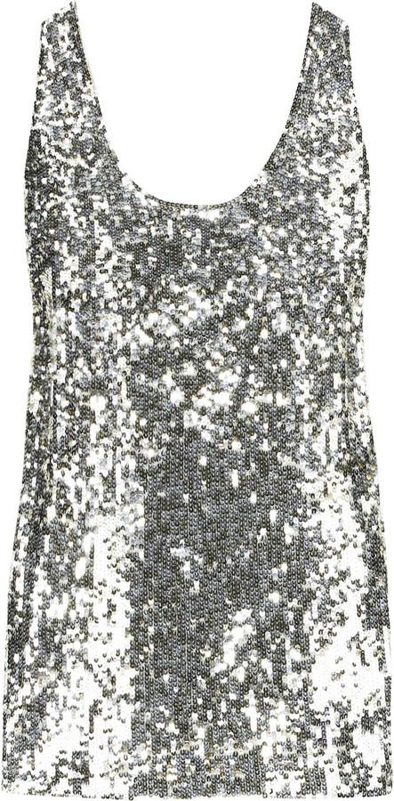 Donna Karan Sequin tank top
