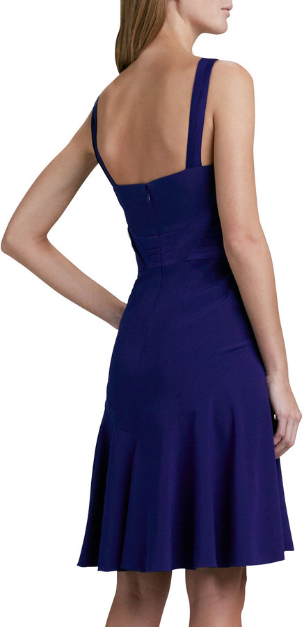 Zac Posen V-Neck Cocktail Dress