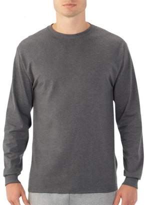 Fruit of the Loom Men's Platinum EverSoft Long Sleeve T-Shirt, Available up to size 4X
