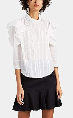 Etoile Isabel Marant Women's Anny Embroidered Cotton Voile Blouse - White