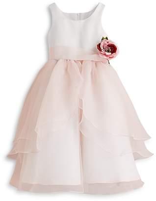 Us Angels Girls' Organza Flower Girl Dress - Big Kid