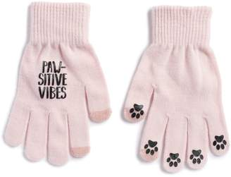 "So Women's SO ""Paw-Sitive Vibes"" Tech Knit Gloves"