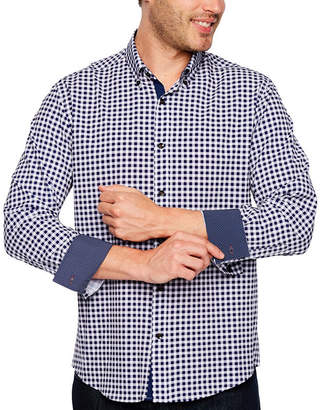 SOCIETY OF THREADS Society Of Threads Long Sleeve Gingham Button-Front Shirt