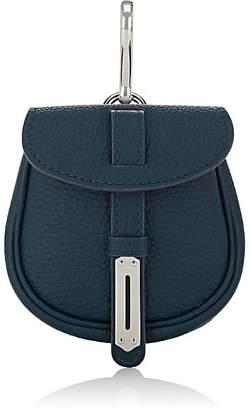 Fontana Milano Women's Mimosa Mini Leather Pouch Bag Charm - Petrolio