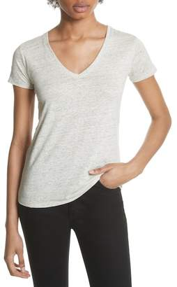 Majestic Stretch Linen V-Neck Tee