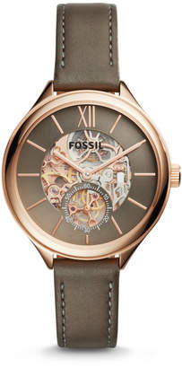 Fossil Suitor Mechanical Brown Leather Watch