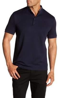 Vince Camuto Pique Mandarin Collar Shirt