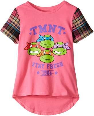 Nickelodeon Teenage Mutant Ninja Turtles Little Girls' T-Shirt Shirt