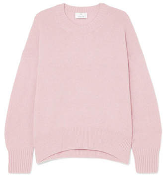 Allude Oversized Cashmere Sweater - Pink