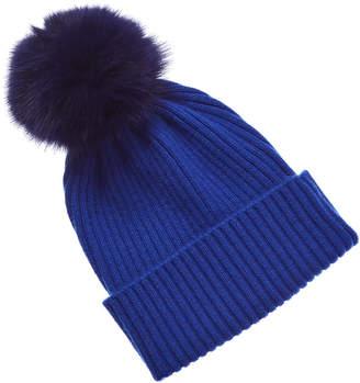e08a7170226 Fur-pom Cashmere Hats - ShopStyle