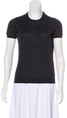 Moncler Wool Short Sleeve Sweater