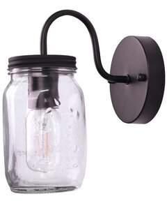 Gracie Oaks Rosemount Jar 1-Light Armed Sconce Gracie Oaks