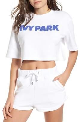 Ivy Park R) Chenille Logo Crop Tee
